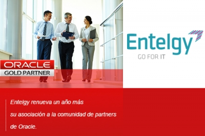 Entelgy es Gold Partner de la red Oracle Partner Network (OPN)